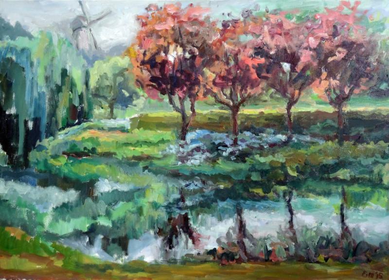 150919 Park met rode bomen 2